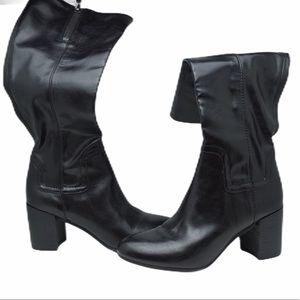 Franco Sarto size 7 black tall boots